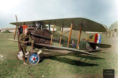 Captain Eddie Rickenbacker and his Spad XIII