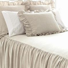 Go au natural with our collection of brown and natural bedding. Shop Pine Cone Hill duvet covers, coverlets, sheets, shams, decorative pillows and more! Neutral Bed Linen, Neutral Bedding, Linen Bedding, Bedding Sets, Bed Linens, Duvet Bedding, Purple Bedding, Bedroom Comforters, Rustic Bedding