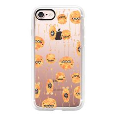 Fall Spooky Monsters - iPhone 7 Case, iPhone 7 Plus Case, iPhone 7... (£32) ❤ liked on Polyvore featuring accessories, tech accessories, iphone case, slim iphone case, iphone cover case, apple iphone cases and iphone cases