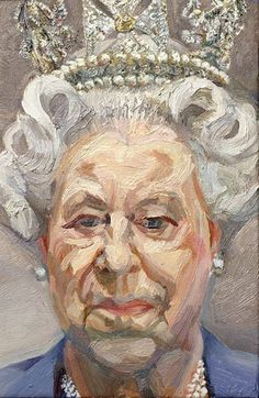 "Lucian Freud - Queen Elizabeth II, Oil on canvas "" The artist wrote to Buckingham Palace asking H. Queen Elizabeth II to attend numerous modeling sessions, a request which she, most unusually,. Lucian Freud Portraits, Lucian Freud Paintings, David Hockney, Elizabeth Ii, Figure Painting, Painting & Drawing, Edward Hopper, National Portrait Gallery, Foto Art"