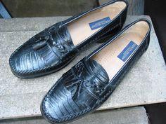GIORGIO BRUTINI Premier Black Leather Dress Loafers 13 D #GiorgioBrutini #LoafersSlipOns
