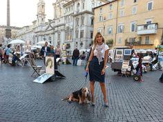 Bryan e Valentina a Piazza Navona Piazza Navona, Basset Hound, Street View, Bassett Hound