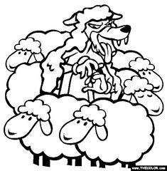 Free Aesops Fables Coloring Pages Color In This Picture Of Wolf Sheeps Clothing And Others With Our Library Online
