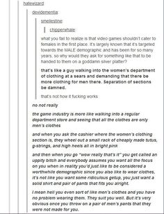 A beautiful response to video game sexism.