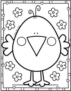 Coloring Club Library — From the Pond Preschool Coloring Pages, Easy Coloring Pages, Animal Coloring Pages, Printable Coloring Pages, Coloring Books, Spring Coloring Pages, Coloring Sheets, Easter Colouring, Coloring Pages For Kids