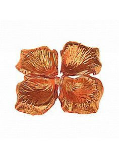 Glossy Orange Nonwoven Rose Petals (Pack of 100 Pieces) - USD $2.99