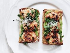 Healthy Recipe: Garlic Chili Prawn Sandwich with Avocado Cream