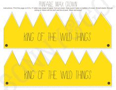 Where the Wild Things Are Birthday Party or Baby Shower Printable Max Crown. $4.99, via Etsy.