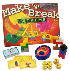 Make n Break Game Extreme: Fun game to work on fine motor, visual motor, motor planning.  We don't time our attempts so everyone can succeed.