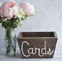 Rustic Wedding Card Box Vintage Inspired Decor Shabby Chic Custom