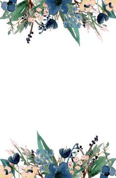 Floral Invitation Template Best Of Blue Free Printable Invitation Templates Paper Trail Design Peonies Wallpaper, Pop Art Wallpaper, Flower Background Wallpaper, Flower Backgrounds, Bathroom Wallpaper, Wallpaper Ideas, Trendy Wallpaper, Wallpaper Backgrounds, Free Printable Invitations Templates