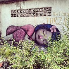 """""""Street Art French street artist 'Seth' with a new signature mural in Phnom Penh, Cambodia"""" Best Street Art, 3d Street Art, Amazing Street Art, Street Artists, Amazing Art, Awesome, Murals Street Art, Graffiti Art, Atelier D Art"""