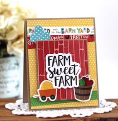 Bella Blvd | Barn Yard Collection | Farm Sweet Farm Card by Laurie Schmidlin