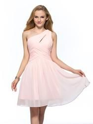 #EricDress - #EricDress Concise Simple One Shoulder A-Line Short Homecoming Dress - AdoreWe.com