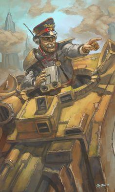 WH40K: Tank Commander by StuartHughe on deviantART