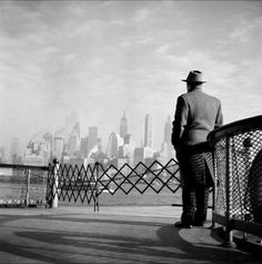 View of Lower Manhattan from the Staten Island Ferry, a 1951 photo by Burt Glinn for Magnum.  We Had Faces Then