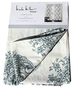 Nicole Miller Marchesa Paisley Medallion Pair of Curtains in Grey Greenish Gray Ivory Colors Medallion Print China Paisley 52-by-96-inch 100% Cotton Set of 2 Window Panels Drapes Nicole Miller http://www.amazon.com/dp/B016QQFFR4/ref=cm_sw_r_pi_dp_S4lkwb1Q24QCA