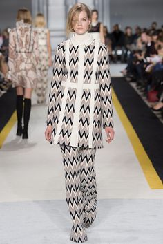 Do we want flares  back ? Which style do you like? Giambattista Valli Fall 2015 pattern wide leg flared trousers pants