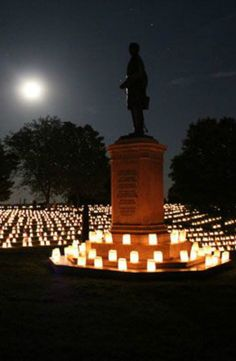 Annual Memorial Day Illumination Fredericksburg National Cemetery, Fredericksburg, VA Puerto Rico, Seasons In The Sun, National Cemetery, Land Of The Free, Scenic Photography, God Bless America, American Civil War, Oh The Places You'll Go, Memorial Day