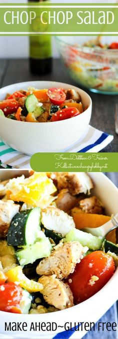 Feeling a salad rut? This juicy, crunchy, chop chop salad will break through that rut in no time!  via @hungryhobby