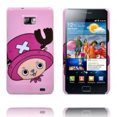 Cute Cartoon (Stor Rosa Hatt) Mobilskal Samsung Galaxy S2