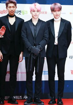 Jimin, Rap Monster and J-Hope ❤ BTS At The 2017 Gaon Chart Music Awards (170222) #BTS #방탄소년단