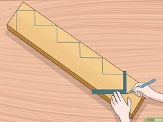 How to Cut Stair Stringers. Stair stringers are the backbone of any set of stairs. In order to cut your stair stringers perfectly, you need to take the time to. Deck Stairs, Wooden Stairs, Wooden Decks, House Stairs, How To Make Stairs, How To Build Steps, Stair Stringer Calculator, Deck Stair Stringer, Building Stairs