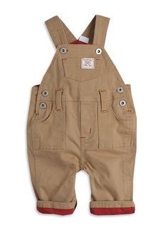 Pumpkin Patch - dungaree - lined canvas dungaree - W3BB20008 - camel - newborn to 12-18mths