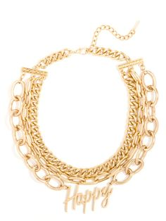 Gold Happy Collar Necklace
