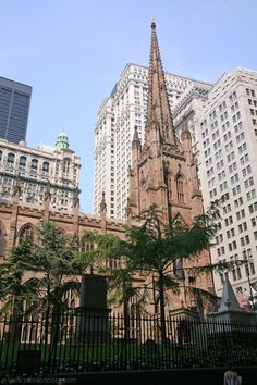 Trinity Church, New York. Used to be a landmark for ships at sea.