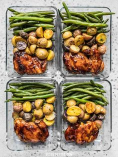 Glazed Chicken Meal Prep Glazed Chicken Meal Prep,Rezepte Take your meat and potatoes meal prep into the century with this simple, yet elegant Glazed Chicken Meal Prep. Eating well has never been easier. Comidas Light, Chicken Meal Prep, Healthy Meals With Chicken, Meal Prep Salmon, Rotisserie Chicken Meals, Healthy Grilled Chicken Recipes, Chicken Lunch Recipes, Prepped Lunches, Meal Prep Bowls