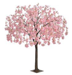 Artificial Cherry Blossom Trees 5 Feet Blossom Tree Light Pink Real Wood Stems And Lifelike Leaves Replica Artificial Plant Artificial Flora Artificial Trees