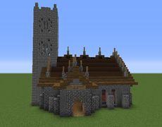 minecraft church medieval blueprints simple