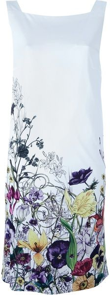 Gucci Floral Dress in White (floral) - Lyst