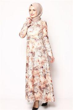 Tesettür Elbise -Kiremit 6032