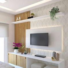 Cute Living Room, Living Room Wall Units, Living Room Decor, Home Room Design, Home Interior Design, Living Room Designs, Tv Unit Furniture Design, Bedroom Furniture Design, Tv Unit Decor