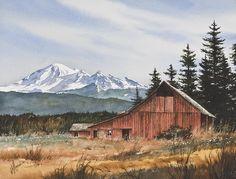 Pacific Northwest Landscape Painting  - Pacific Northwest Landscape Fine Art Print