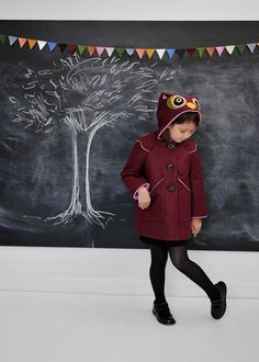 Sweetheart Owl Girls Coat di littlegoodall su Etsy, $155.00