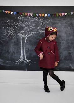 Elayna needs this.  Sweetheart Owl Girls Coat by littlegoodall on Etsy, $155.00