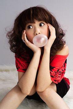 Rainie Yang Bubble Gum Cuteness <3
