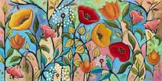size: Giclee Print: Garden Party V by Peggy Davis : This exceptional art print was made using a sophisticated giclée printing process, which deliver pure, rich color and remarkable detail. Acrylic Painting Techniques, Stretched Canvas Prints, Find Art, Framed Artwork, Giclee Print, Art Prints, Poster Prints, Illustration, Catalog