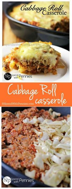 Cabbage Roll Casserole – Quick and easy comfort food! Cabbage Roll Casserole – Quick and easy comfort food!,Crockpot eats This Cabbage Roll Casserole recipes layers all of the delicious flavors of cabbage rolls without. Low Carb Recipes, Beef Recipes, Cooking Recipes, Water Recipes, Pastry Recipes, Cooking Time, Beef Dishes, Food Dishes, Main Dishes