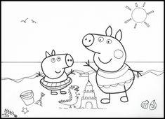 coloriage peppa pig colorier dessin imprimer - Jeux De Peppa Pig A La Piscine