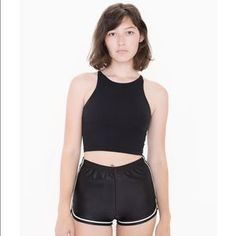 American Apparel Pants - Poly dazzle running short