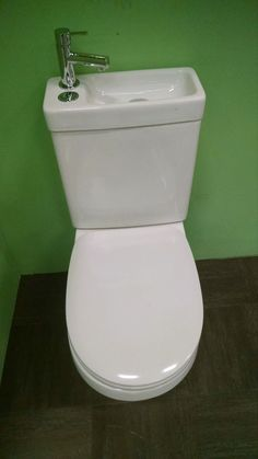 Toilette und Waschbecken kombiniert - - #badezimmerideen