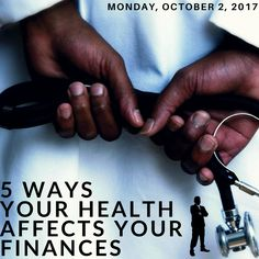 There is no greater factor to the pocketbooks of Canadians than their health. Your health will rule your life including your finances. I take a look at 5 important ways health affects your money! Budgeting Finances, Facebook Instagram, Disability, 5 Ways, Personal Finance, Wealth, Toronto, Health Care, Investing