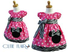 Custom Boutique style Minnie Mouse Peasant Dress by cutieflair, $48.99