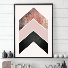 Downloadable Rose Gold Chevrons Print Blush Pink Black Rose Gold Scandinavian Minimalist Digital Poster Modern Wall Art Bedroom Decor Copper THESE ARE INSTANT DOWNLOADS – Your files will be available instantly after purchase. Please note that this is a digital download ONLY, no