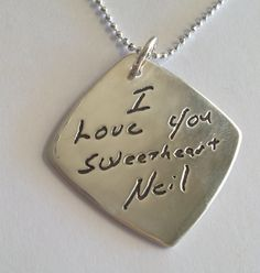 Single Sided Memorial Jewelry Your Actual Loved by SurfingSilver