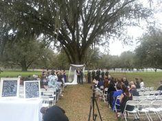 Lange farm wedding ceremony